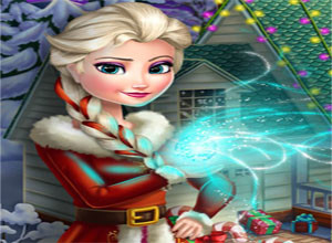 لعبة تجميل منزل ملكة الثلوج