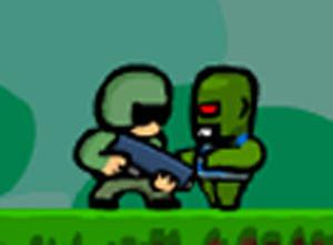 لعبة المحارب المدافع