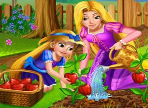 لعبة ابنة ريبونزيل و الزراعه