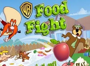 لعبة حرب الطعام الكارتونية
