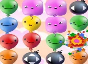لعبة فرقعة البالونات الملونة