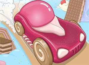 لعبة سيارات الآيس كريم والديناصورات