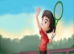 لعبة ضرب كره التنس