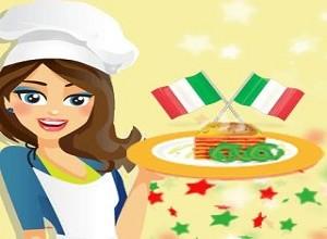 لعبة عمل المأكولات الايطالية