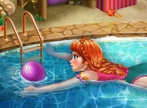 لعبة انا في حمام السباحة