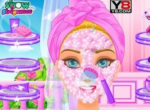 لعبة تنظيف البشرة للبنات
