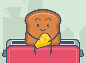 لعبة الخبز التوست