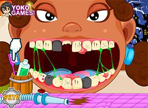 لعبة الاسنان المكسورة