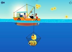 لعبة صياد السمك بالشبكة