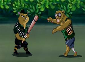 لعبة الهامستر ضد الزومبي