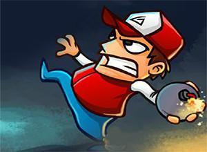 لعبة قذف القنابل علي الزومبي