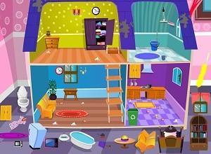لعبة تنظيف البيت المتسخ