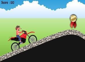 لعبة دراجة كراش