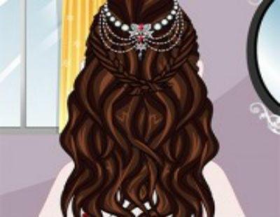 لعبة تصفيف شعر العروسة