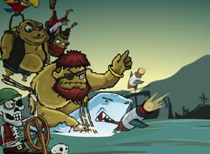 لعبة الزومبي وحرب القراصنة