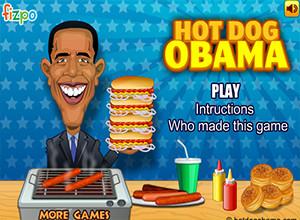 لعبة هوت دوج اوباما