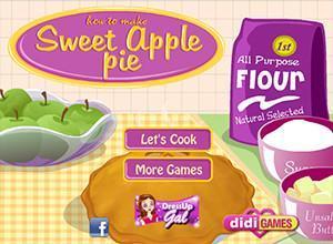 لعبة طهي فطيرة التفاح