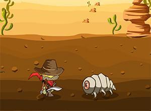 لعبة الكاوبوي في الصحراء