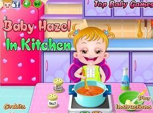 لعبة بيبي هازل في المطبخ