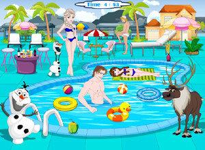 لعبة حمام السباحة مع الاميرة كنزي