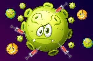 لعبة محاربة المرض والوباء