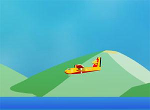 لعبة قيادة الطائرة