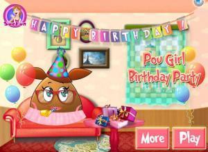 لعبة عيد ميلاد ابنة بو