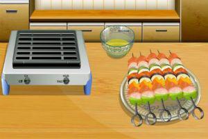 لعبة طبخ الكباب المشوي