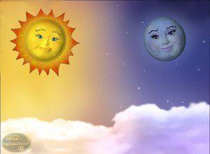 لعبة قمر و شمس