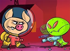 لعبة الخنازير الفضائيه