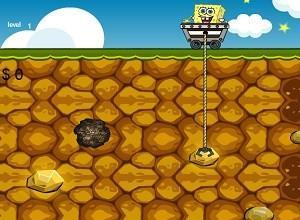 لعبة سبونج بوب يجمع الذهب