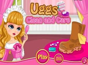 لعبة تنظيف احذية ماما