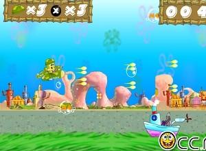 لعبة سبونج بوب يقاتل تحت الماء