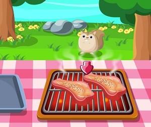 لعبة شوي لحم البقر