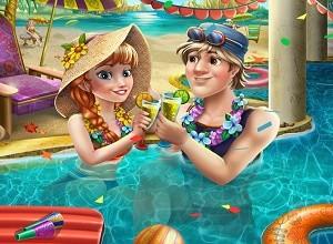لعبة الشمبانيا وحمام السباحة